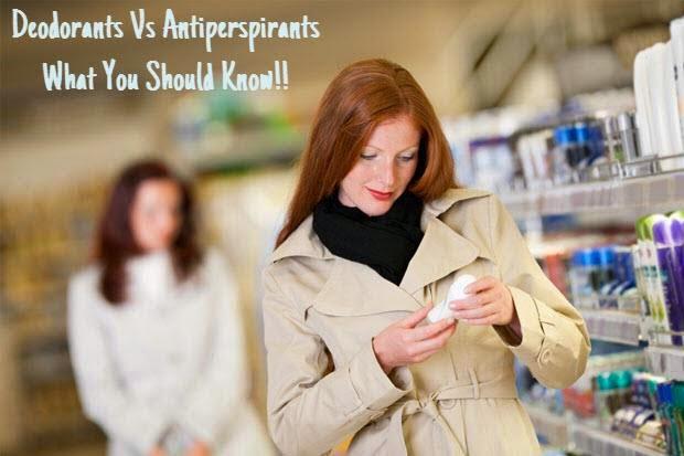 difference deodorant vs antiperspirant