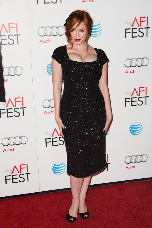 Christina Hendricks at 2012 AFI Fest red carpet