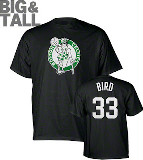 Big and Tall Larry Bird Celtics T-Shirt