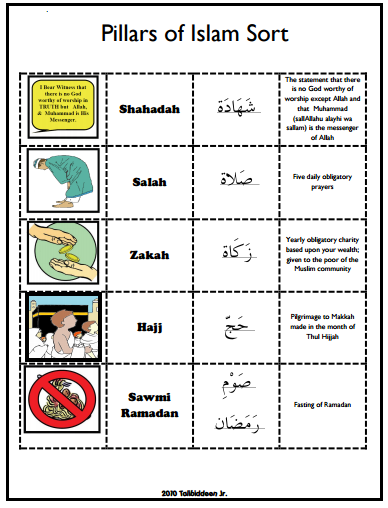 Pillars of Islam Learning Resources ~ TJ Homeschooling