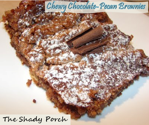 Chewy Chocolate Pecan Brownie Brownies dessert chocolate recipe
