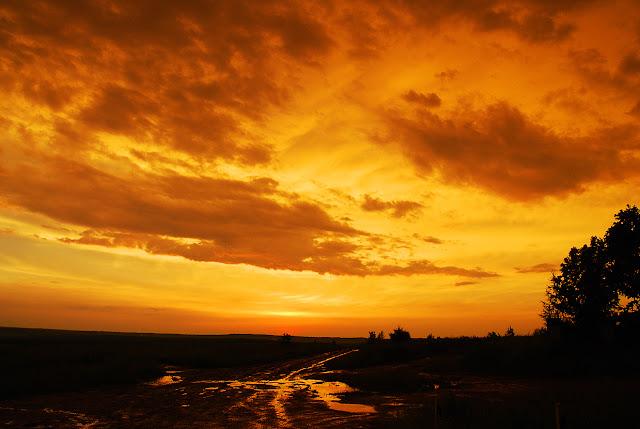 Закат над Лысьвой