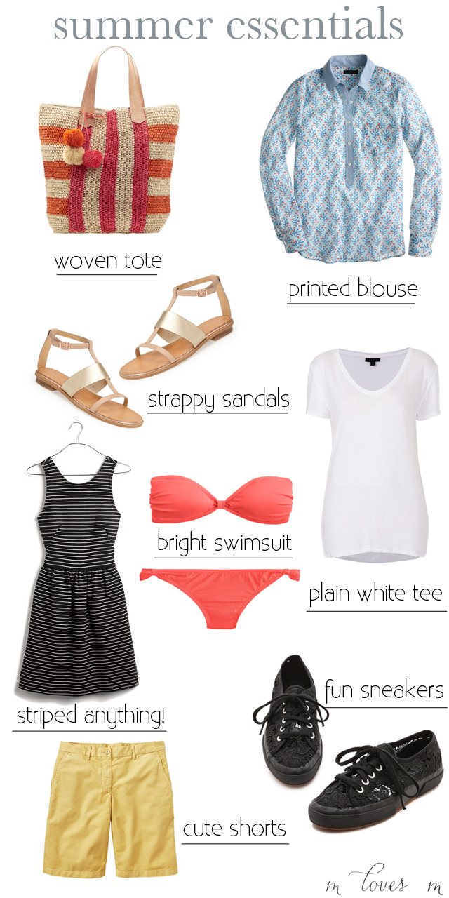 summer clothing essentials, M Loves M