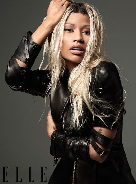 Nicki Minaj pose en couverture  de Elle  sans maquillage.