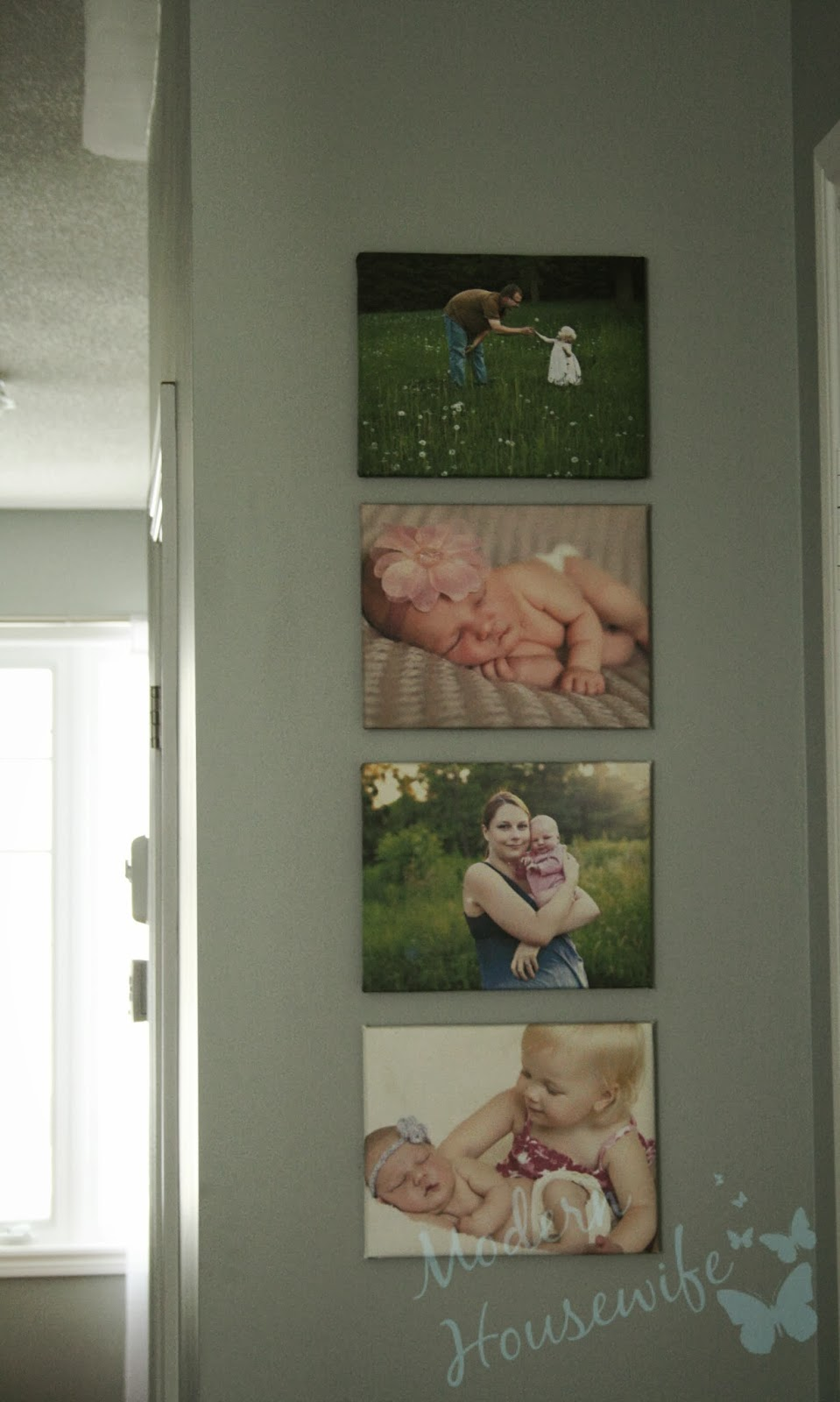 Modern housewife diy wrapped photo canvases for Modern housewife