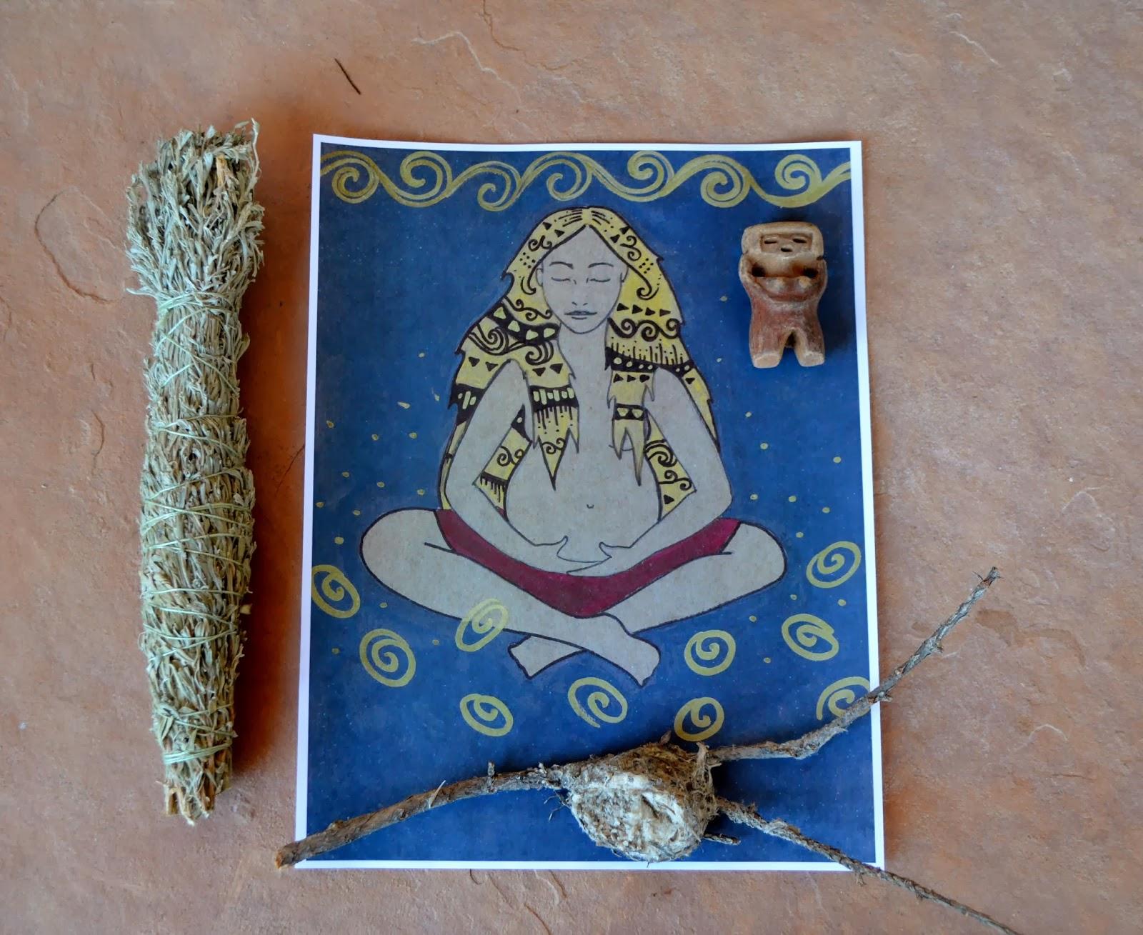 Earth mama goddess print/ spiritysol