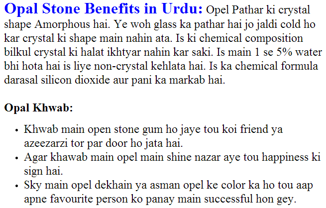 opal stone benefits urdu opal stone details opel dream