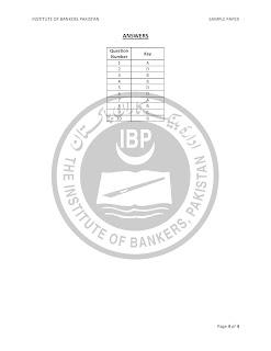 Sample Paper for OG-I State Bank Jobs in Pakistan