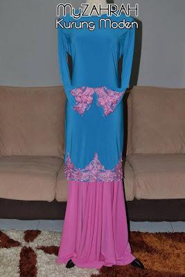 Baju kurung moden with lace