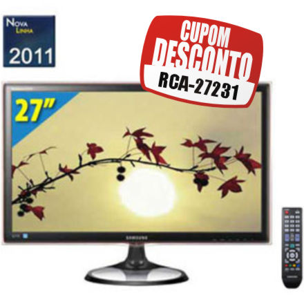 Cupom Efácil - TV Monitor LED Full HD 27 Samsung