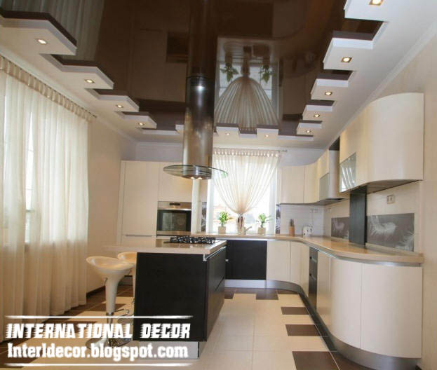 International decor: Contemporary gypsum ceilings, suspended ...