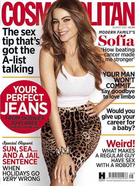 Actress, Model @ Sofia Vergara - Cosmopolitan UK, August 2015