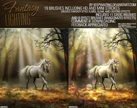 Fantasy Lighting Brush For Photoshop