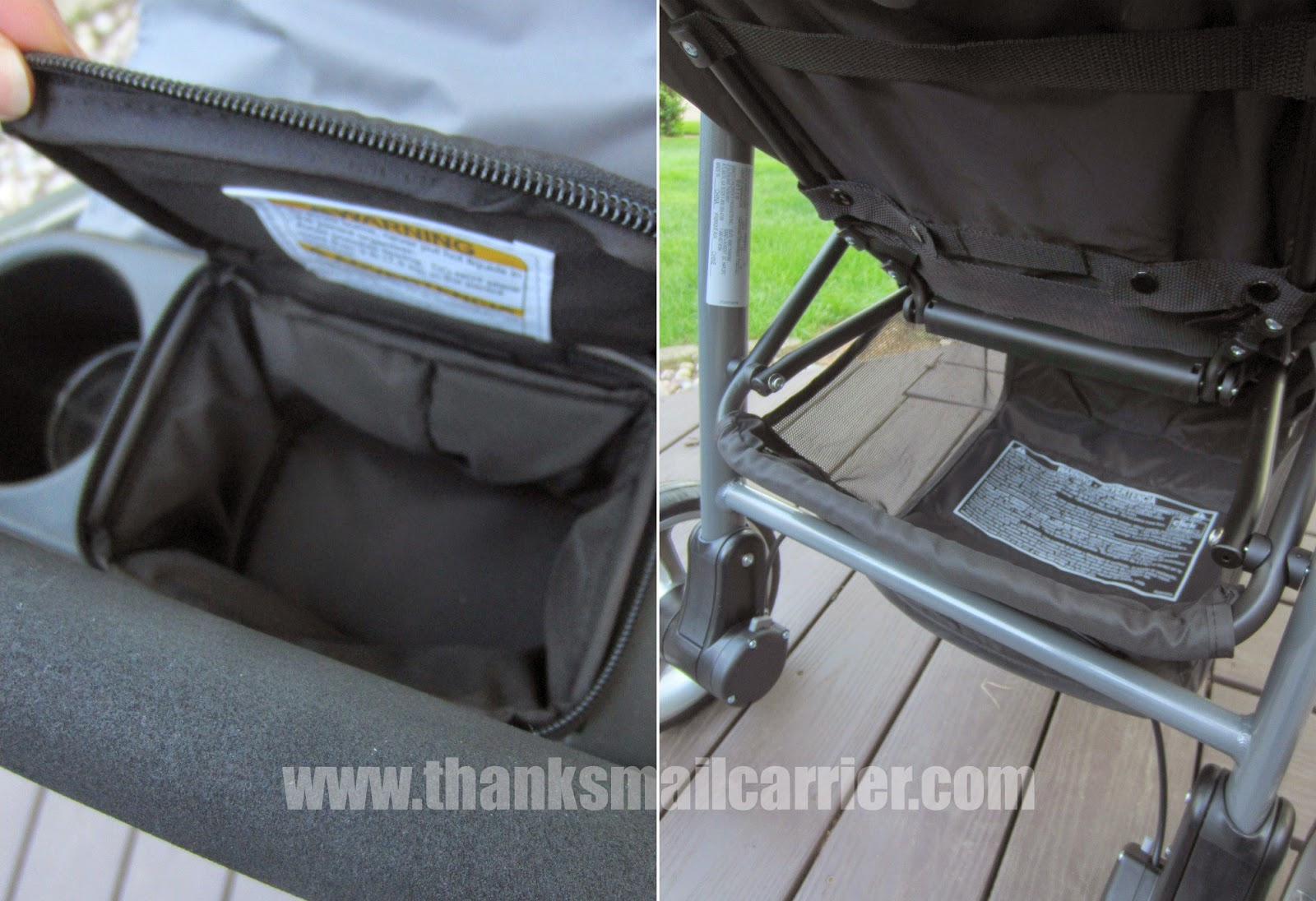 Graco Aire3 stroller storage