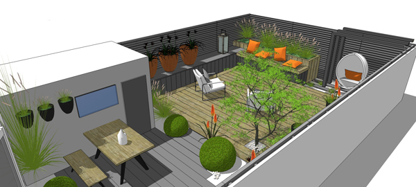 greencube garden and landscape design UK 3d design work by greencube