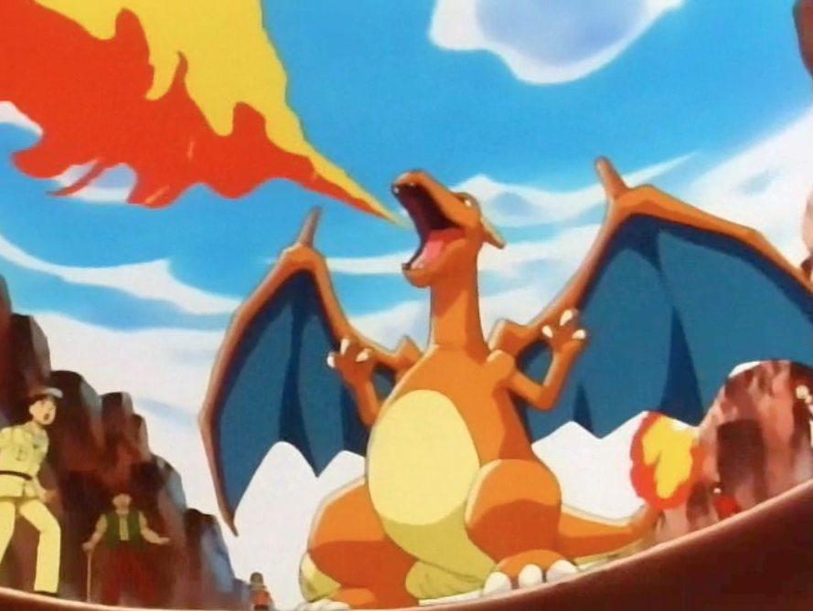 the gallery for gt charizard flamethrower yellow