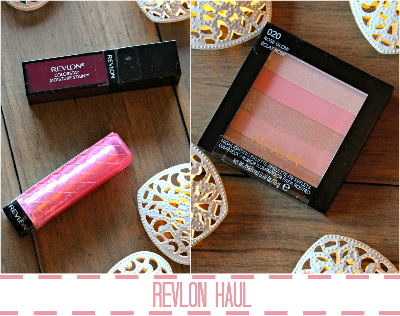 A haul of beauty products from Revlon