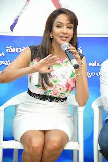 Actress Lakshmi Manchu Pictures in Short Dress at Dongata Movie Logo Launch 16