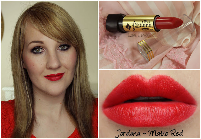 Jordana Matte Red lipstick swatch