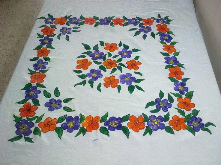 Sparkling Fashion Fabric Painting