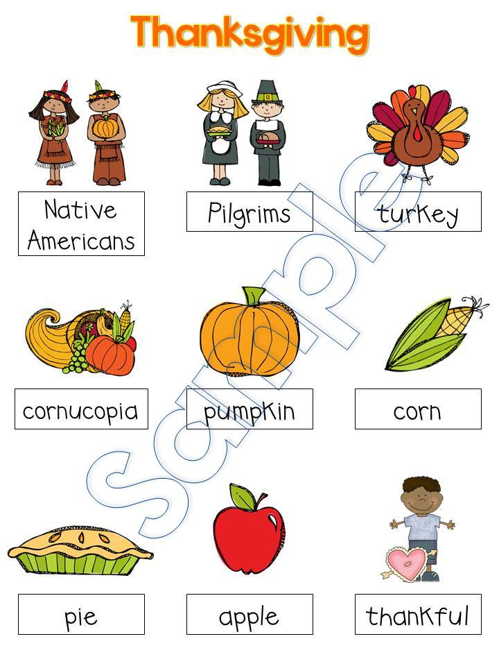 Printables Vocabulary Words For Kindergarten With Pictures preschool vocabulary words for kindergarten 39 s thanksgiving kindergarten