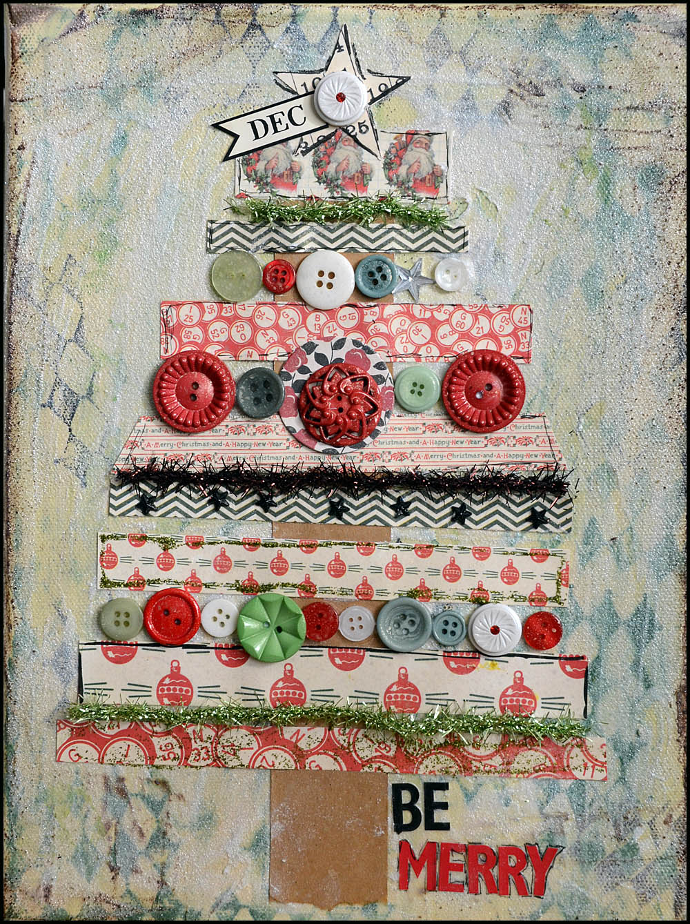 Jbs inspiration quot be merry christmas canvas from may flaum