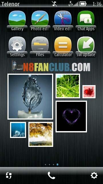 Gallery Widget from Belle FP1 for Nokia N8 & Belle Refresh smartphones ...