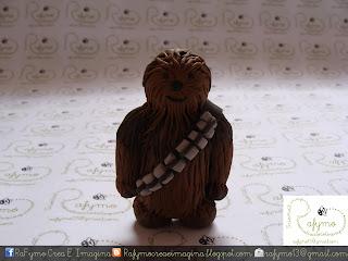 Chewbacca Belen de Star Wars hecho con Fimo