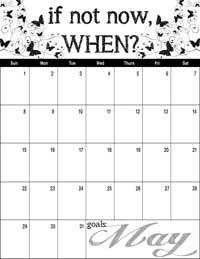 May 2016 Inspirational Calendar
