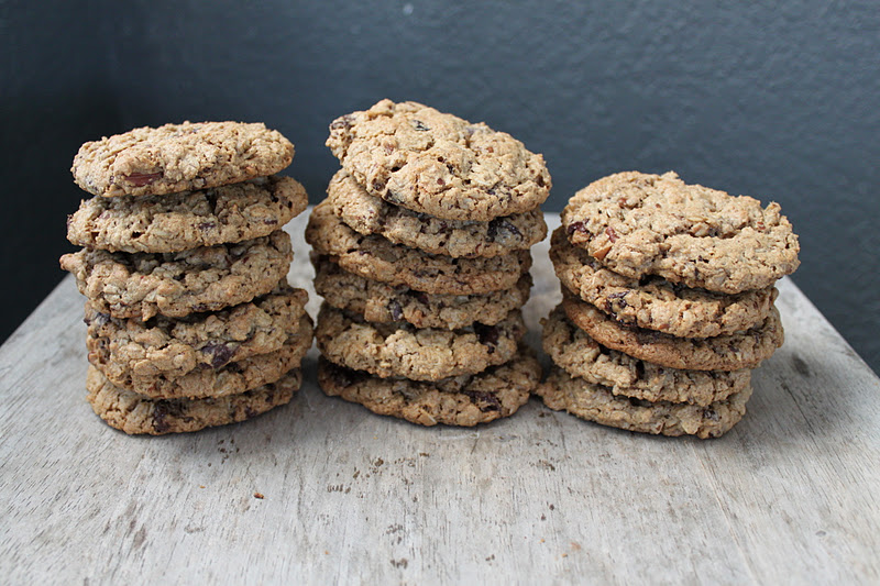 Flourless Chocolate Pecan Oatmeal Cookies - The Little Epicurean