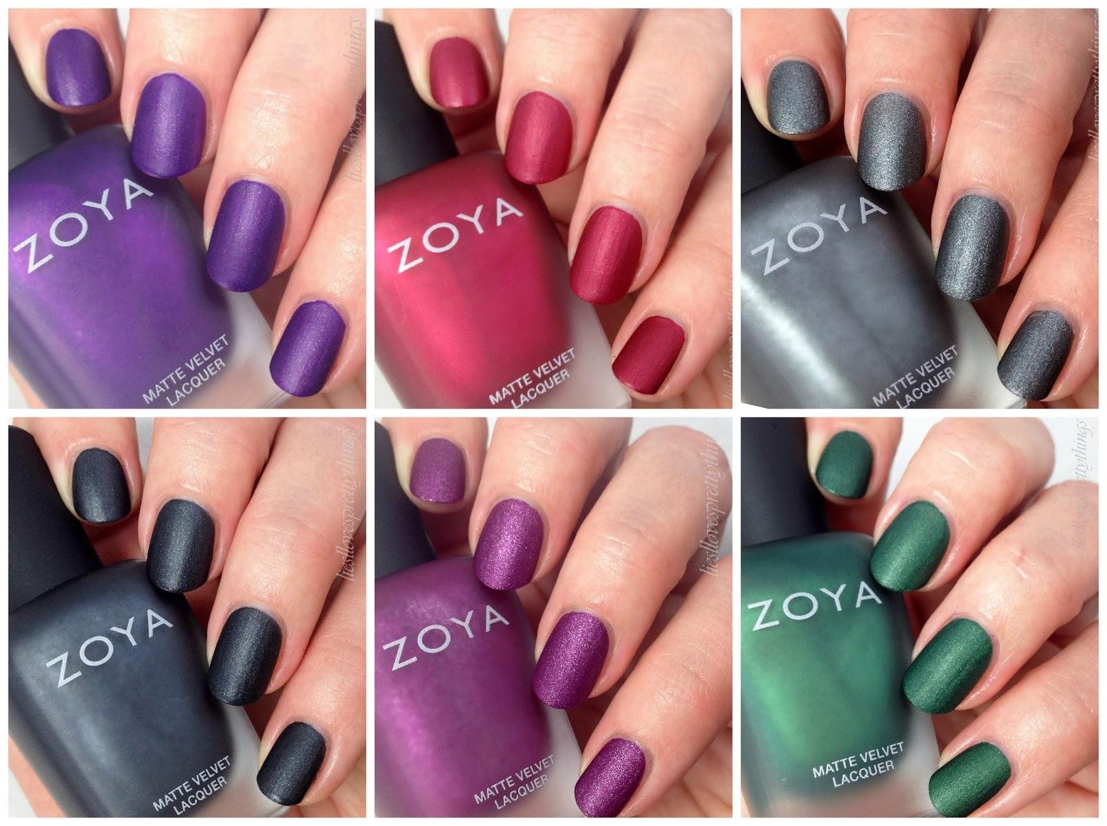 Zoya Matte Velvets