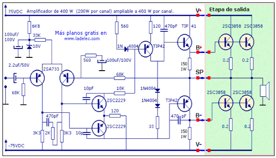 Circuito Amplificador : Circuito amplificador ultracompacto de w