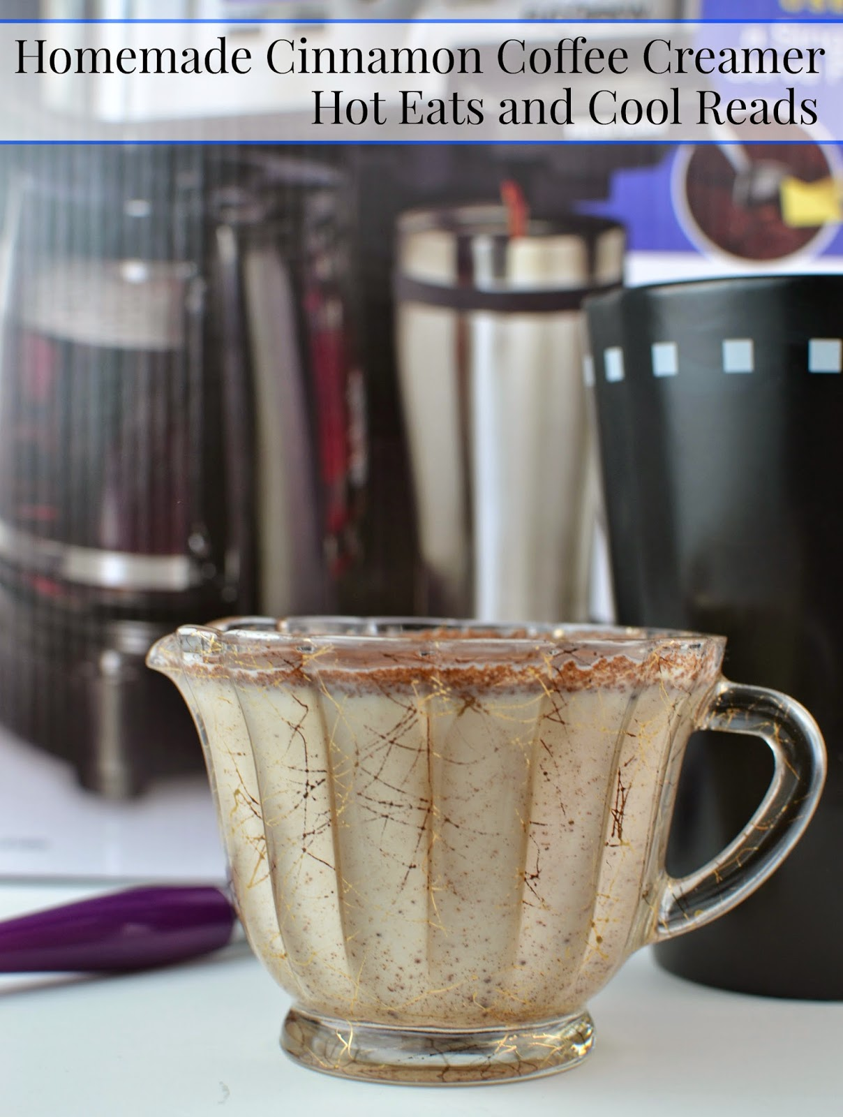 Hot Eats and Cool Reads: Homemade Cinnamon Coffee Creamer Recipe and Hamilton Beach FlexBrew 2-Way Coffee Maker plus Giveaway!