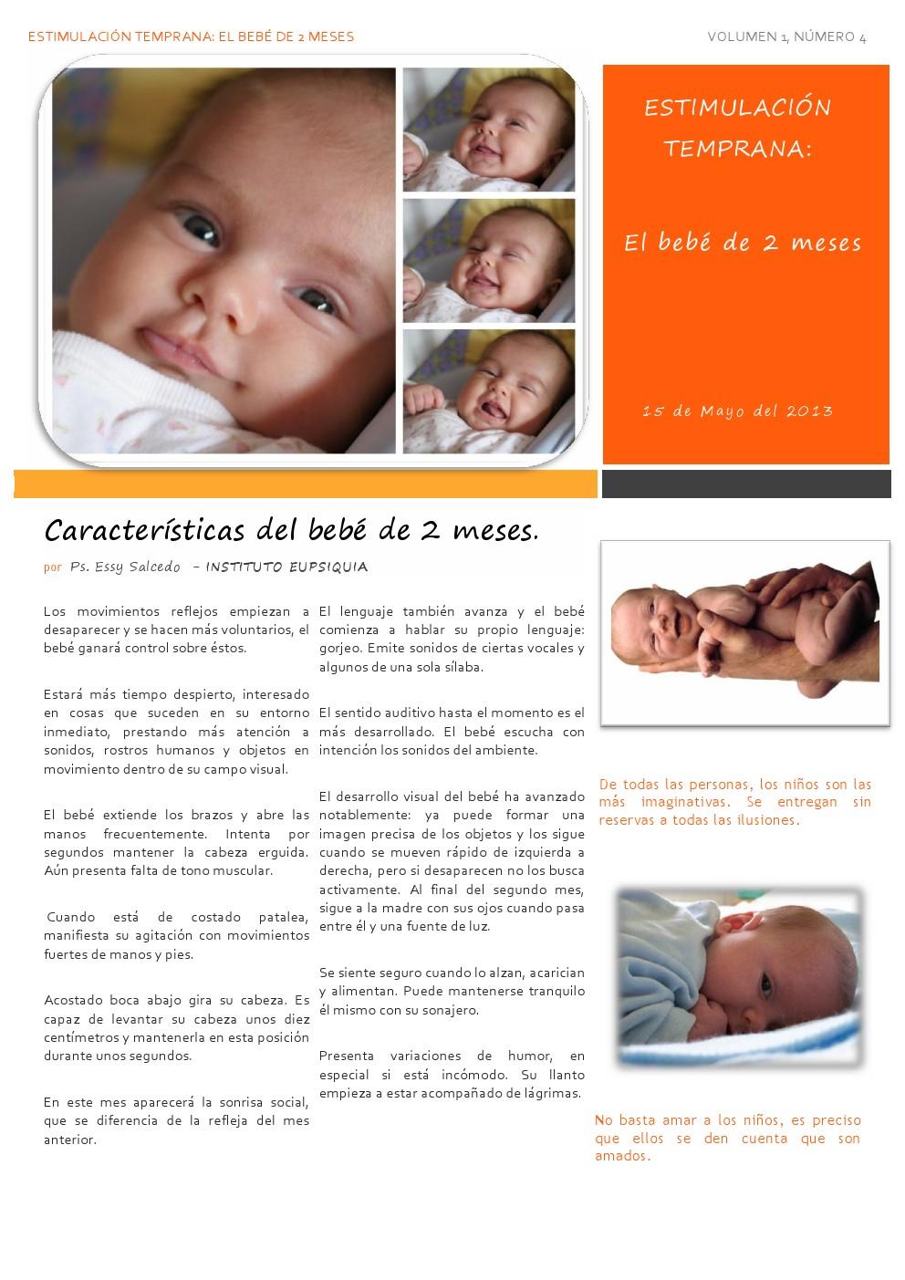 Mundo infantil estimulaci n temprana el beb de 2 meses - Estimulacion bebe 3 meses ...