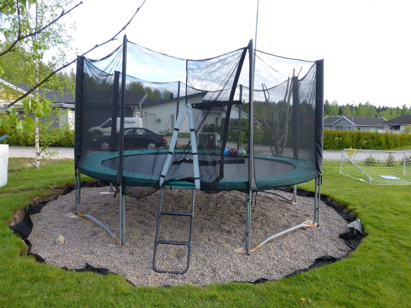 alexandras garten in schweden projekt des tages randsteine um das trampolin legen. Black Bedroom Furniture Sets. Home Design Ideas
