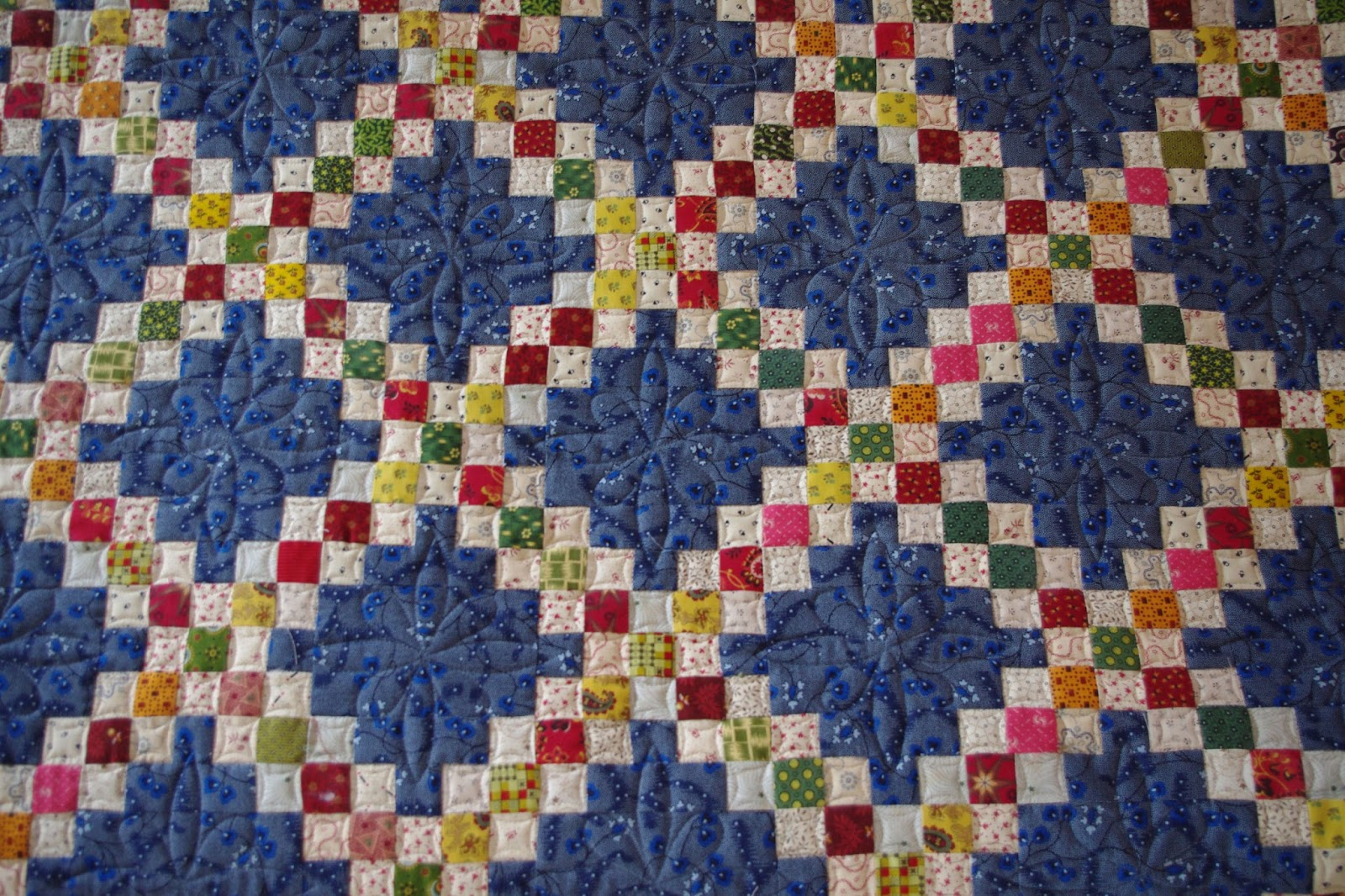 Quilt Pattern For Double Irish Chain : Quilts on Bastings: Irish Double Chain Quilt