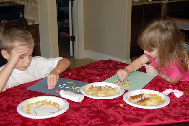 kid craft, macaroni art