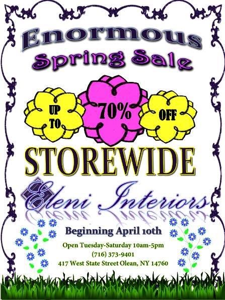 Eleni's Spring Sale, Olean, NY