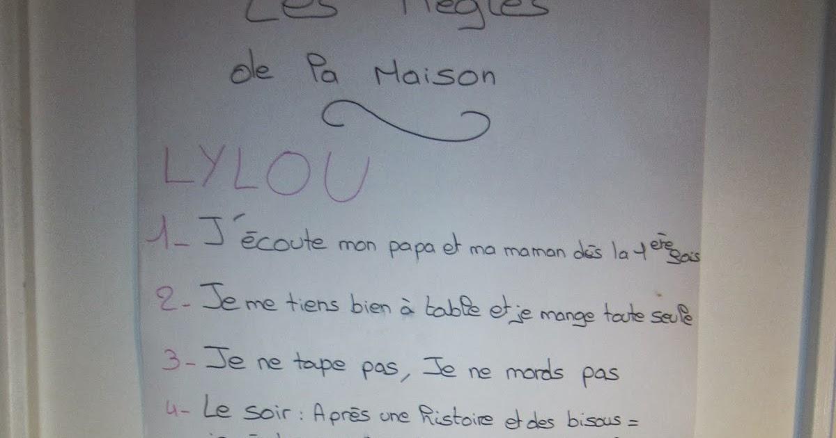 La famille vissaux les r gles de la maison - Poster les regles de la maison ...
