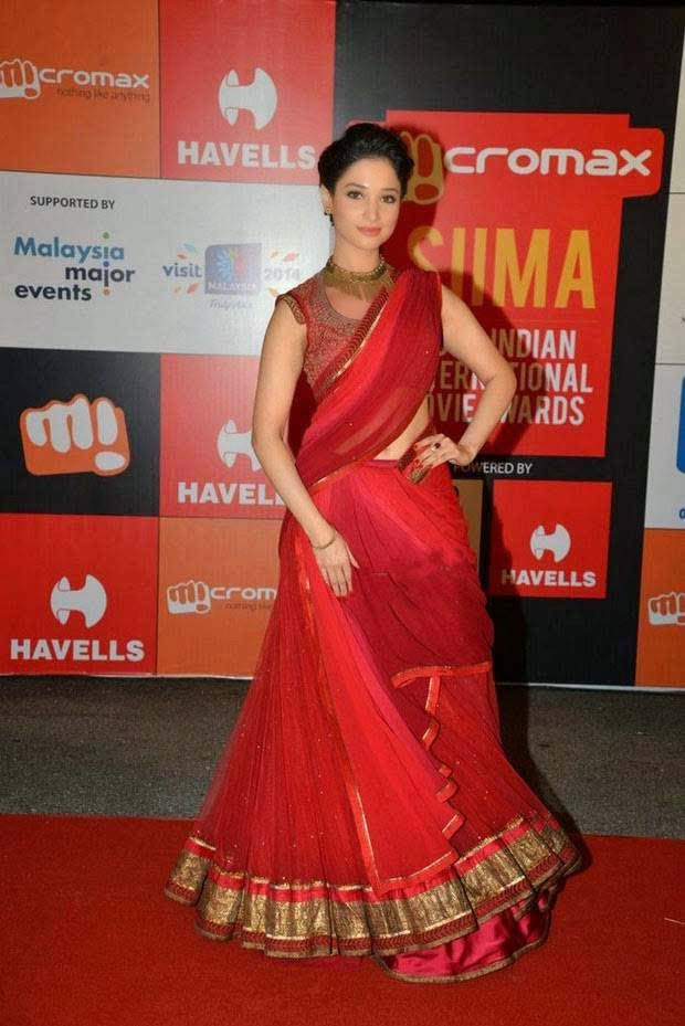 Tamannaah In Half Saree At SIIMA Awards 2014