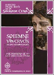Cartel Anunciador del Sagrado Vía-Crucis de las Hermandades 2015.