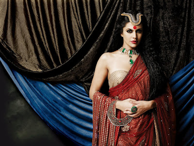 Mandira Bedi Hot Gaja Jewellery Ad PhotoShoot