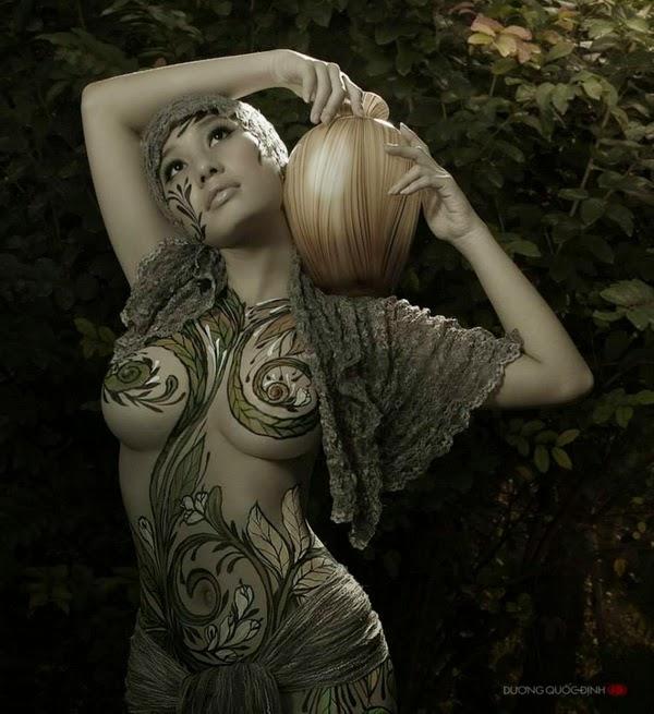 Ảnh gái xinh Body painting của Dương quốc định 25