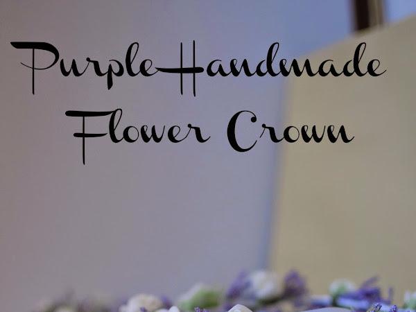 {Real DIY} : Purple handmade flower crown