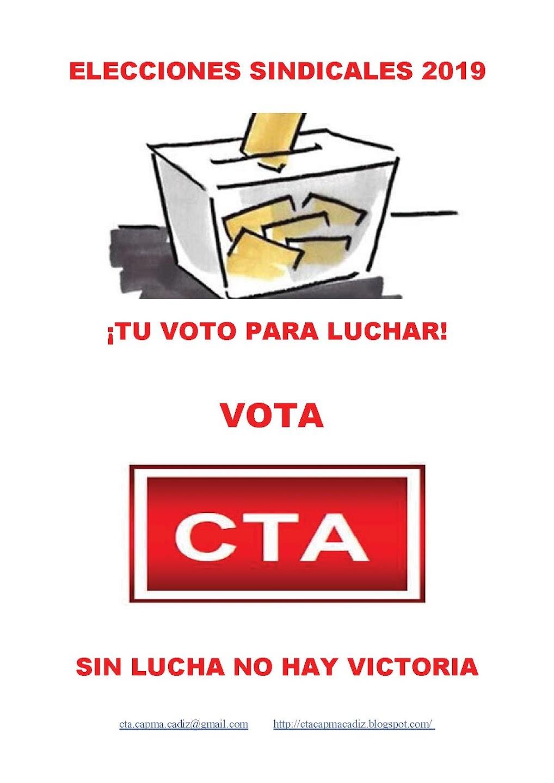¡TU VOTO PARA LUCHAR! - VOTA CTA