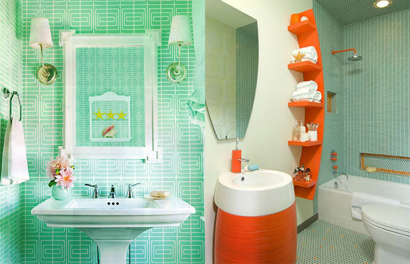 Mais banheiros verdes e azuis!