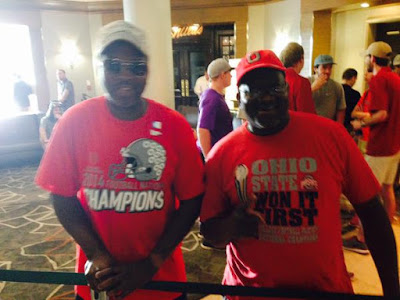 Ohio State fans invade SEC Media Days. (UPDATE: May be Auburn fans in disguise.)
