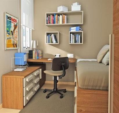 desain ruang tidur kecil