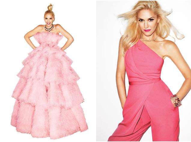 gwen stefani style pink jumpsuit pink dress harpers bazaar