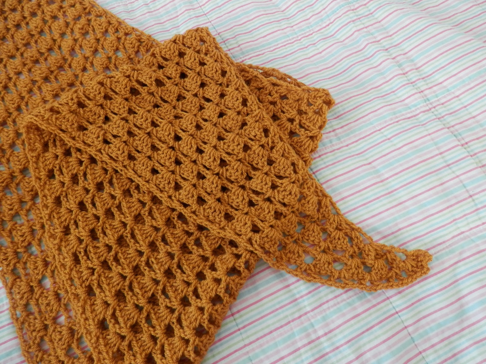 My mustard 'Harmony Shawl'  Free crochet pattern from Ravely secondhandsusie.blogspot.co.uk